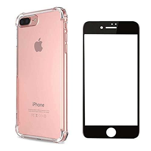 Kit Capa Anti Impacto para iPhone 7/8 7 Plus/8 Plus e Película Vidro Temperado 6D 9H (iPhone 7/8)