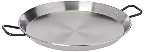 Garcima paellera de acero pulido, gris, 55cm
