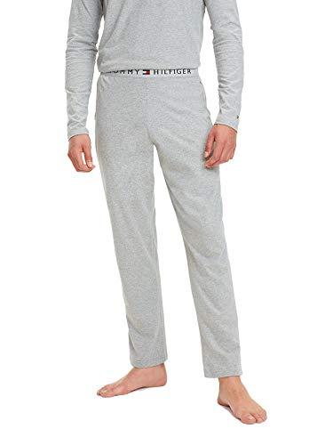 Tommy Hilfiger Herren Logo-Pyjama-Unterteile, Grau, L