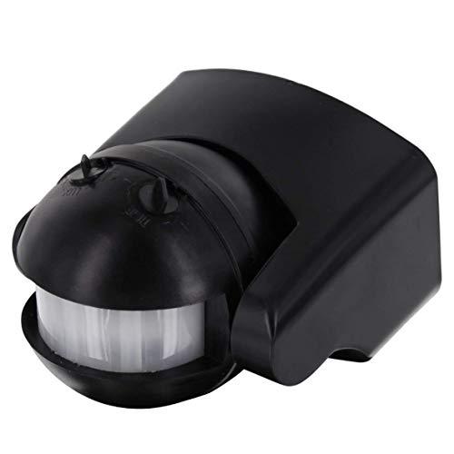 IR Bewegungsmelder schwarz IP44 180° - für Feuchtraum und Aussen - schwenkbar - LED geeignet 1-1000W