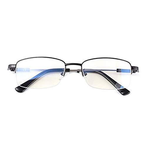 Gafas de lectura alemanas con zoom inteligente, gafas de lectura multifocales con luz azul, lectores multifocales, lentes sin línea de enfoque múltiple (+150°, negro)