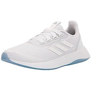 adidas Women's QT Racer Sport Running Shoe, White/White/Grey, 8