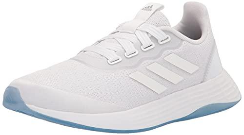 adidas Women's QT Racer Sport Running Shoe, White/White/Grey, 7.5