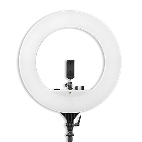 DIGITEK® (DRL 018) Professional 46 CM (18 inch) Big LED Ring Light with 2 Color Modes Dimmable Lighting | For YouTube | Photo-shoot | Video shoot | Live Stream | Makeup & Vlogging | Compatible with iPhone/ Android Phones & Cameras