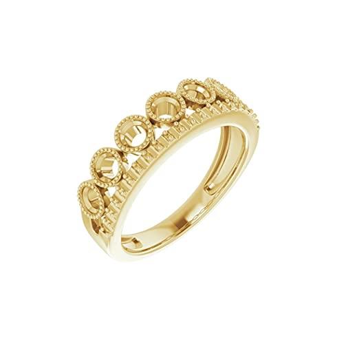 Anillo de oro amarillo de 14 quilates con diamante pulido de 1 quilate de laboratorio, talla N 1/2, joyería de regalo para mujer