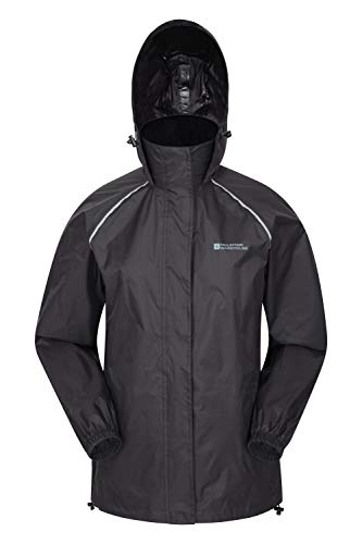 Mountain Warehouse Pakka Womens Waterproof Rain Jacket – Packable Black 10