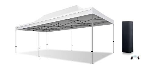 ACTIEXPRESS Tente Pliante 4X8 Structure en Aluminium 40mm Toit 300g/m² qualité professionelle (Blanc)