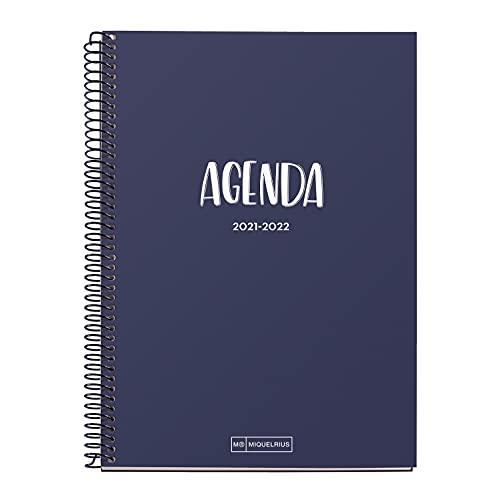 Miquelrius Agenda Escolar 2021-2022 - Tamaño PLUS 15 x 21,3 cm, Semana Vista, School Marino, Idioma...
