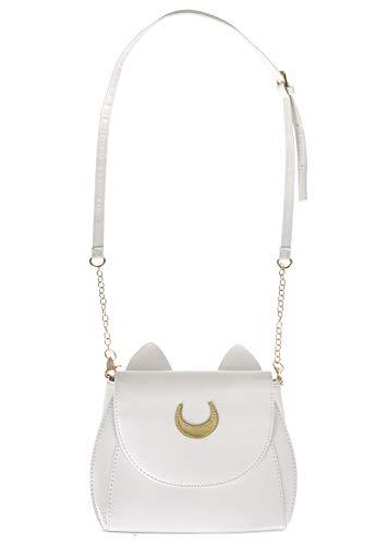 Sailor M. Handtasche aus PU-Leder mit Katzenohren | Farbe: Creme Weiß