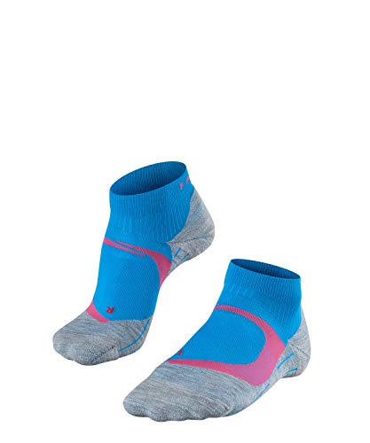 FALKE Damen, Laufsocken RU4 Cool Short Funktionsfaser, 1 er Pack, Blau (Pool 6167), Größe: 37-38