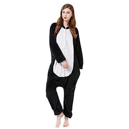 Pijama unisex de una sola pieza, disfraz de Halloween para mujer, disfraz de una pieza de franela, g, XL