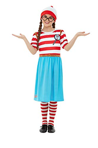 Smiffys 50280L - Disfraz oficial de Wally Wenda para niña