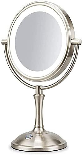 Qjkmgd Espejo, Baño, Montado en la Pared, Mesa de tocador, Espejo Mujer Lemakeup Espejo