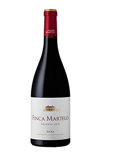 Finca Martelo - Vino Tinto Reserva 2015 D.O Rioja Alavesa | Tempranillo, Mazuelo, Garnacha y Viura | Pack Estuche 6 Botellas 75 cl