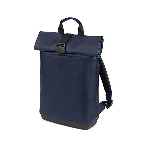Moleskine - Classic Rolltop All-Purpose Backpack, PC Backpack Compatible with Tablet, Laptop, Notebook, iPad, Computer up to 15 Inch, Size 40 x 32 x 12 cm, Sapphire Blue