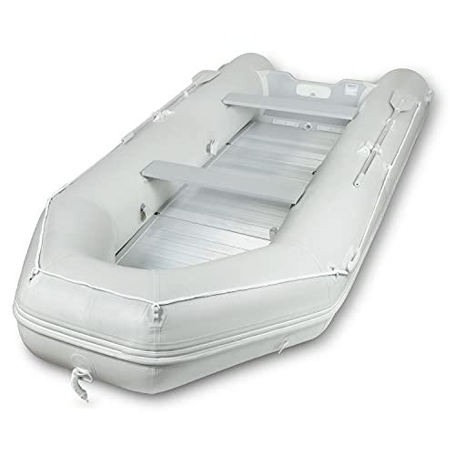 EBERTH Schlauchboot für 4+1 Personen (aus PVC, 3,20 m x 1,50m, Beladung bis 566kg, 2X Sitzbank, Aluboden, 2X Paddel, Pumpe, Reparaturset, Tragetasche, geeignet für Motoren bis zu 15 PS)