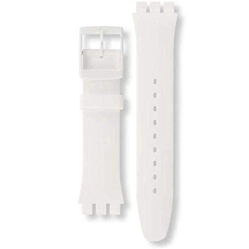 Authentic Swatch Watch Strap Soft Silicone White 19.5mm for White Rebel and White Lacquered