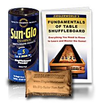 Fantastic Deal! SunGlo Table Shuffleboard Powder Dust Wax Speed #5 - Five Star - 6 Pack + Talc Bag +...
