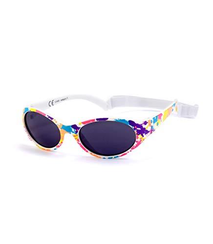 Kiddus Sonnenbrille Kids Comfort Junge und Mädchen. Alter 2 bis 6 Jahre. Total Flexible Modell für Extra Komfort. Mit Band und sehr Resistent. 100% UV-Schutz. Nützliches Geschenk (Multicolor)