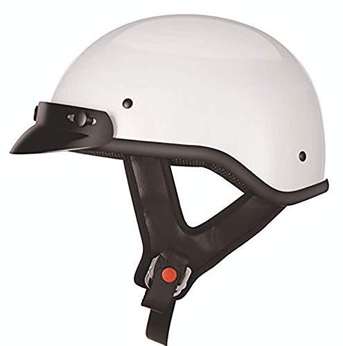 Casco Mezzo Viso Moto Casco Jet Moto Cruiser Scooter Mezzo Casco Moto Casco Mezzo Omologato DOT/ECE Per Adulti Giovani E Bambini white,XL