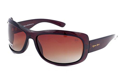 Gafas de sol polarizadas Roberto Marco para mujeres conductoras, marco de plástico marrón, lentes de color marrón claro – Edición limitada – Filtro Categoría 3, protección UV400