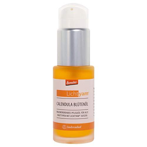 Calendula Blütenöl Körperöl Gesichtsöl Pflegeöl Kosmetik Demeter Bio Lichtyam® Naturkosmetik Biokosmetik vegan Gesichtspflege Körperpflege, Inhalt:30 ml