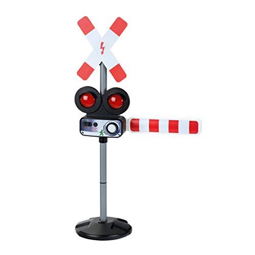 Theo Klein 4009847029614 2961 Bahnübergang mit Licht und Sound, batteriebetrieben