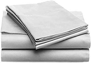 Tula Linen 1100 TC 100% Egyptian Cotton Sleeper Sofa Bed Sheet Set Solid fit Up to 8 Inch with 4 -PCS Fitted Straps Premium Quality (Queen XL (60