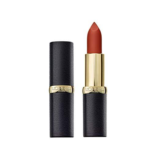 L'Oréal Paris Color Riche Matte 655 Copper Clutch, matter Lippenstift mit pflegenden Ölen, cremige Textur für maximalen Lippenkomfort