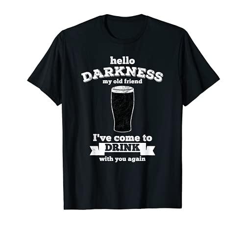 Hello Darkness My Old Friend - Bevanda amante della birra Maglietta