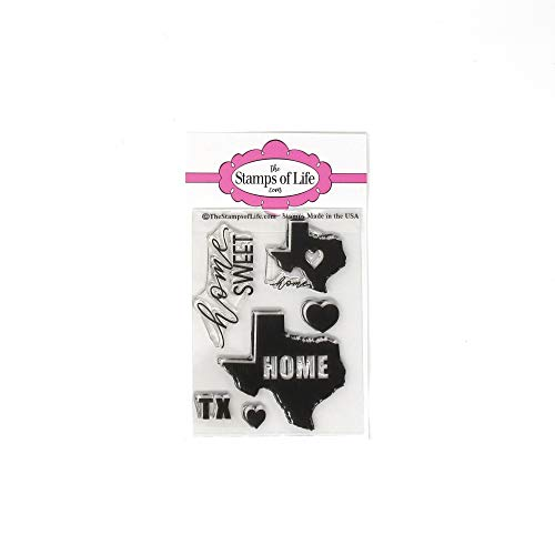 Texas Home Stamps for Card-Making and Scrapbooking by The Stamps of Life - Texas State Stamp