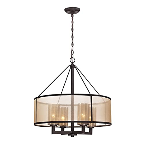 Elk Lighting 57027/4 Diffusion Collection 4 Light Chandelier, Oil Rubbed Bronze