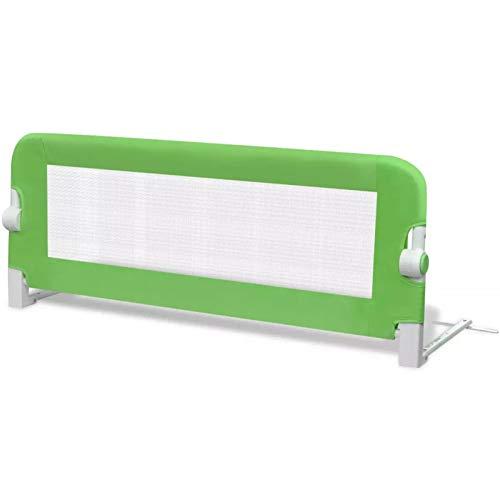 Ksodgun Barandilla de Seguridad Cama de niño Barandilla de La Cama Barrera de Cama Portátil y Estable 102x42 cm Verde