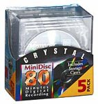 Memorex Crystal 80-Minute Minidisc Media (5-Pack with Case) (Discontinued by Manufacturer)