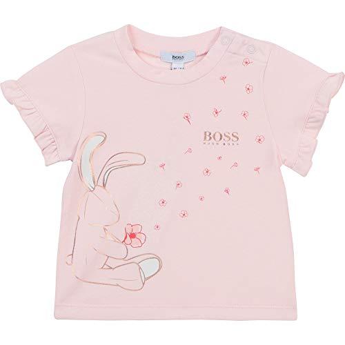 BOSS Camiseta de Manga Corta Bebe Rosa Pastel 3AÑOS
