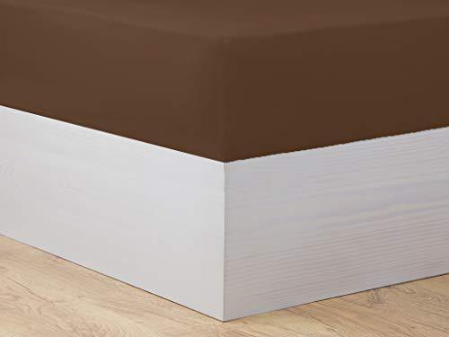 Mi Casa Basic 180 Hoeslaken, Bruin, 180 cm Bed