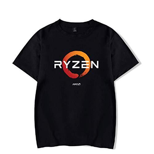 AMD-RYZEN-T-Shirt-Mujer-Hombre-Ropa-Moda-IT-Divertido Camiseta