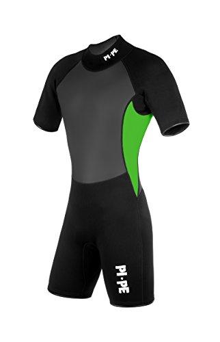 PI-PE Herren Neoprenanzug Pro II Spring Short Sleeve, Green, XL