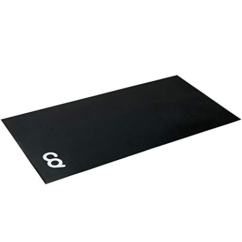 "CyclingDeal Exercise Fitness Mat - 36"" x 72"" (High Density) - for Treadmill, Peloton Stationary Bike, Elliptical, Gym Equipment - Use On Hardwood Floors and Carpet Protection 3'x6'"
