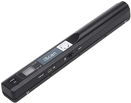 Etzin Portable Scanner iSCAN 900 DPI A4 Document Scanner Handheld for Business, Photo, Picture, Receipts, Books, JPG/PDF Format Selection, Micro SD Card Hand Scanner-B