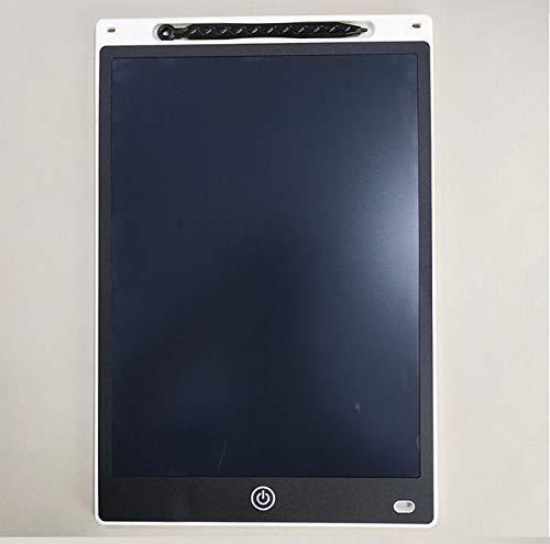 BXGZXYQ 12-Zoll-LCD-Tablet Graffiti-Tafel for Kinder Handbemalte Tafel WordPad Kleine Tafel Löschbarer Marker Zeichentablett Digitaler Tafel-Zeichenblock (Farbe : White)