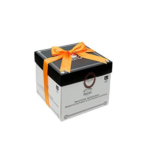 Sicilia Bedda - PANETTONE ARTIGIANALE PELUSO - 36 ore di Lievitazione Naturale - Alta Qualità Siciliana - Vari Gusti (Cioccolato di Modica IGP agli Agrumi di Sicilia in Box)