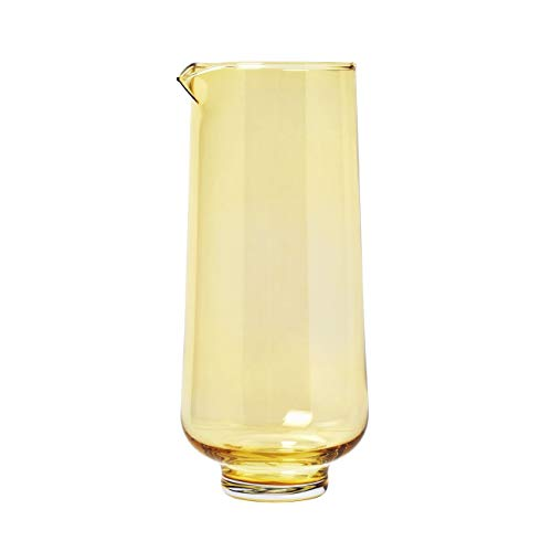 blomus 63923 Flow Wasserkaraffe, Glas, 34 Fluid_Ounces, Dull Gold