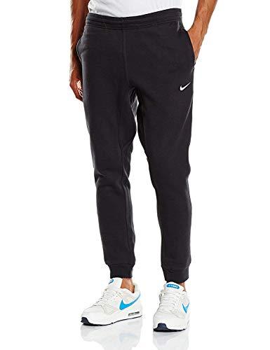 Nike Men's Club Fleece Tapered Jogger Pants 826431-010 (Large, Black/White)