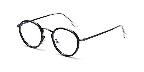 LONMEI Gafas Unisex: Montura Ligera Lentes Transparentes