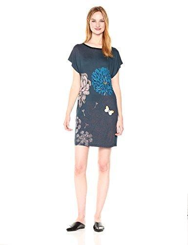 Desigual Vest_Ginger Vestido, Azul (Legion Blue 5188), Large para Mujer