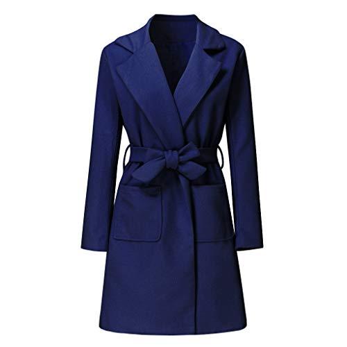 Makalon damesjack, wollen jas, lange mouwen, winterjas