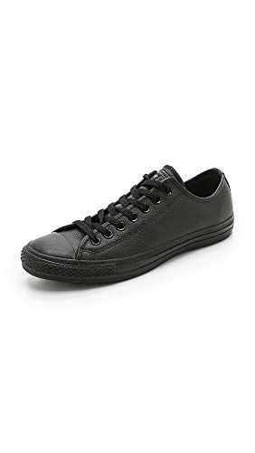 Converse All Star Ox Leather Baskets Monochrome Noires-UK 8.5