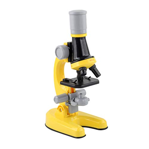 Kstyhome High Definition 100/400/1200-mal verstellbares Mikroskopspielzeug-Kit mit LEDs Füllen Sie das Licht aus