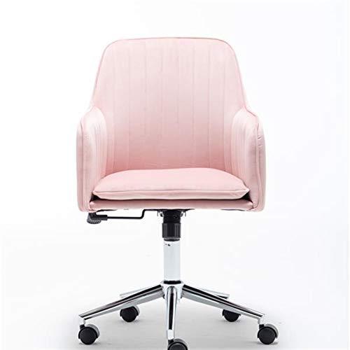DEMXYA Pink Simple Study Computer Sofa Silla Silla giratoria, hogar cómodo Levantamiento Respaldo Dormitorio Oficina de Ocio Silla de Escritura